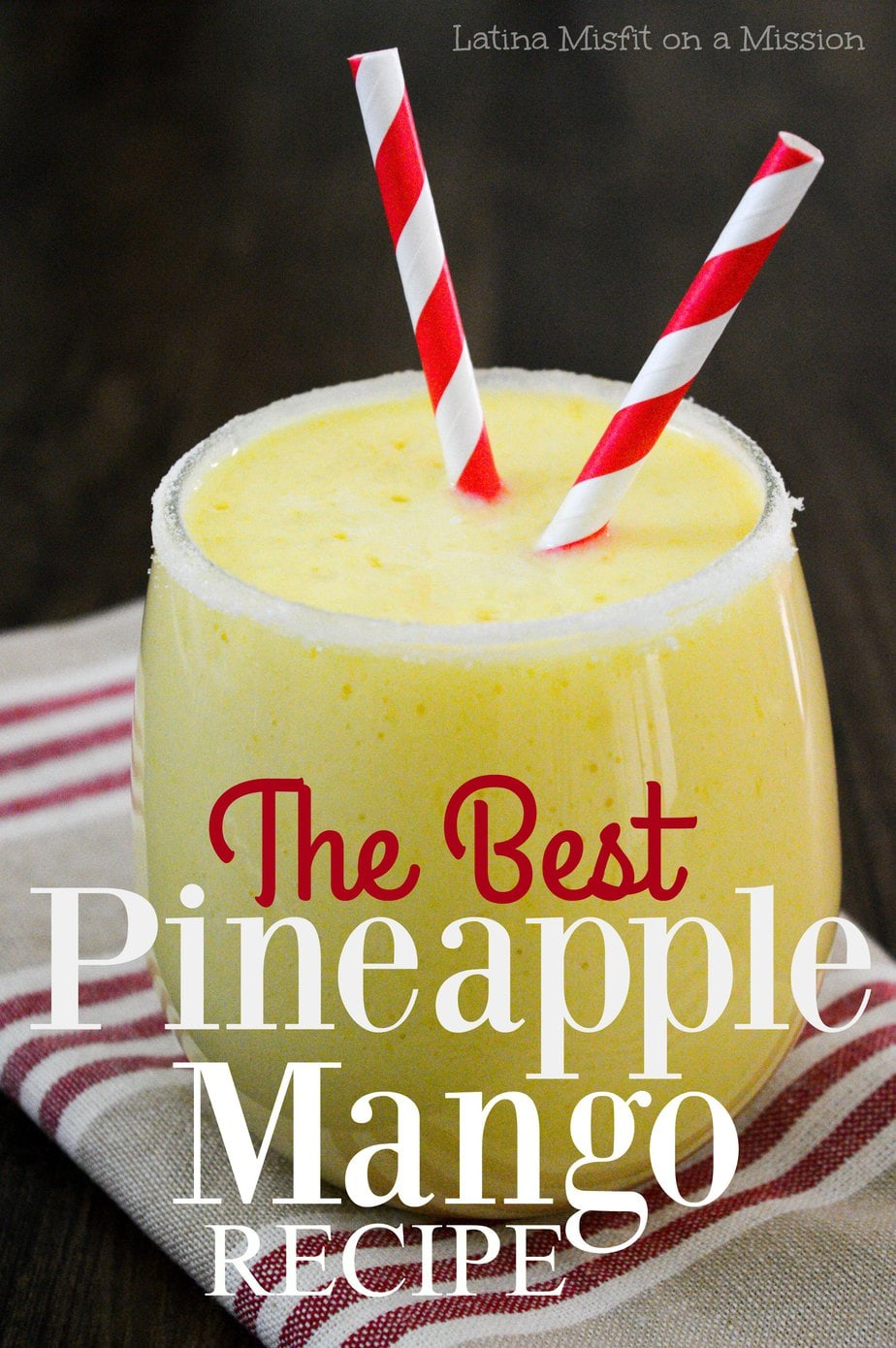 the best and easy pineapple mango smoothie