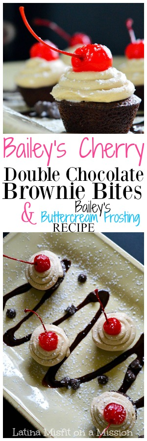 Looking for a finger snack to take to an adult only party? These Bailey's Double Chocolate Brownie Bites are the perfect dessert to make.