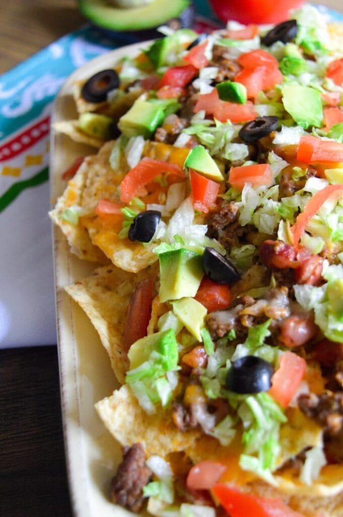 fully loaded spanish nachos
