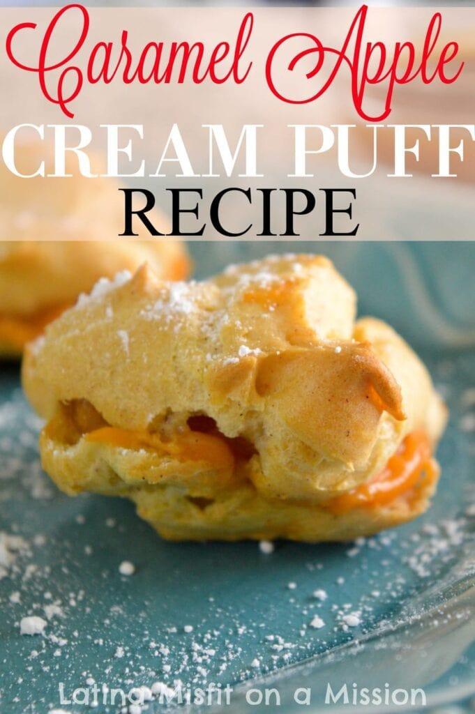 Caramel Apple Cream Puffs