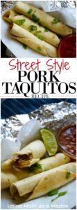 Street Style Pork Taquitos
