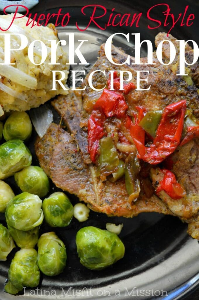 Tired of rock hard pork chops? This juicy Puerto Rican pork chop is the perfect recipe that's made in less than 30 minutes!
