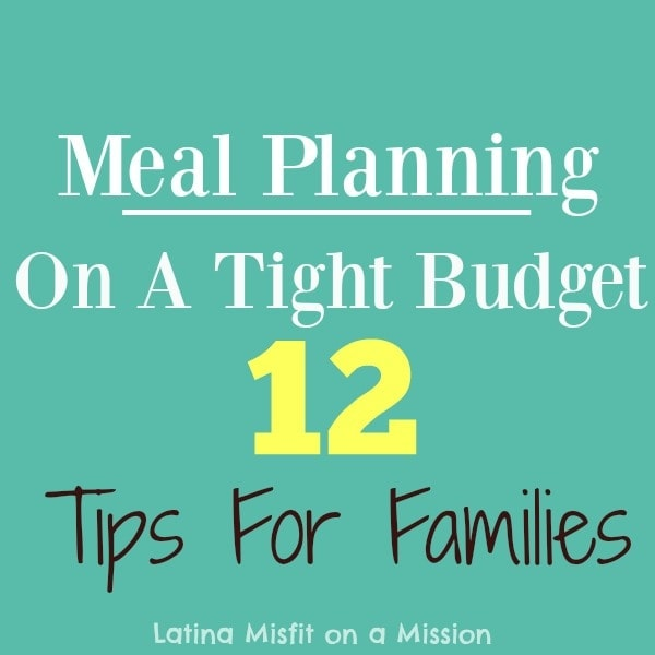 Meal planning on a tight budget for families.