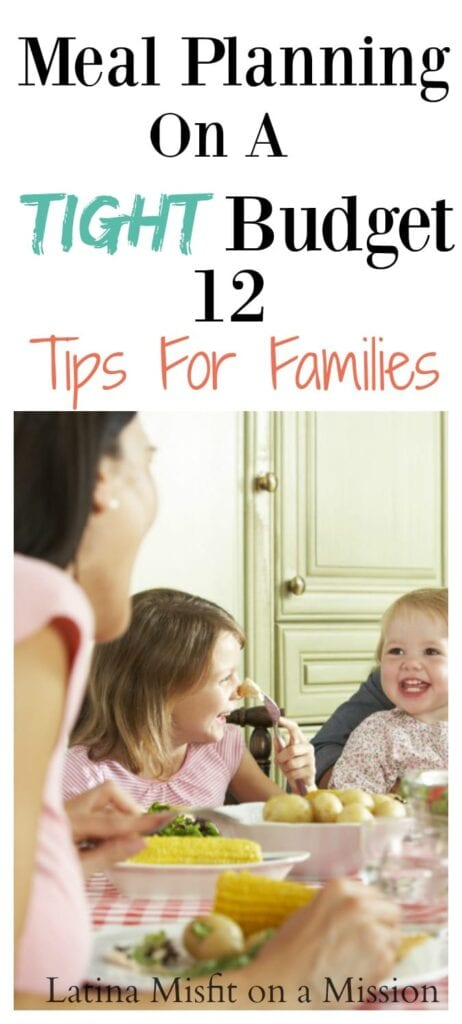 Meal planning on a tight budget. Tips for large families.