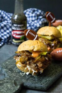 slow cooker Cuban BBQ beef sliders recipe