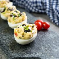 How to make Greek inspired deviled eggs