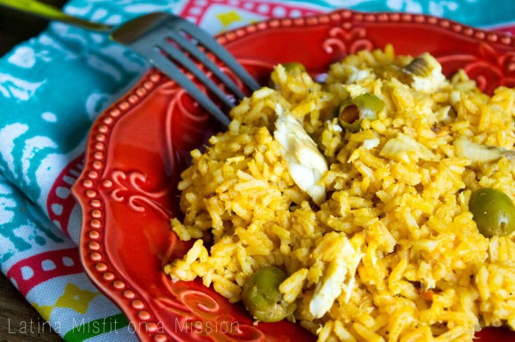 Puerto Rican Rice with Tilapia | Arroz Con Tilapia