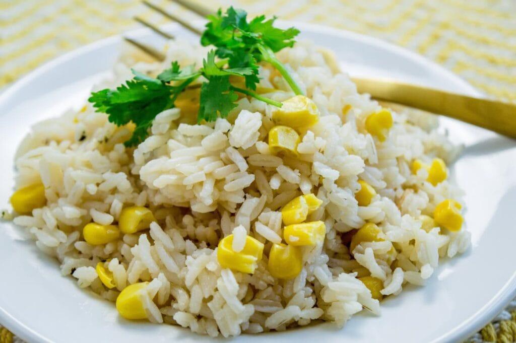 Arroz Con Maiz| White Rice and Corn Recipe