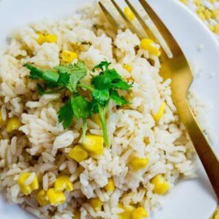 Arroz Con Maiz  White Rice and Corn Recipe