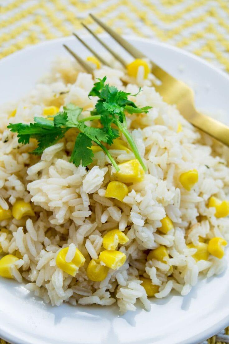 Arroz Con Maiz | White Rice with Corn Recipe