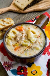 Creamy Leek And Carrot Tortellini Soup