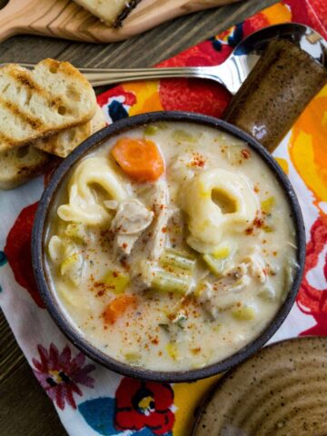 Creamy Leek And Carrot Tortellini Soup Recipe