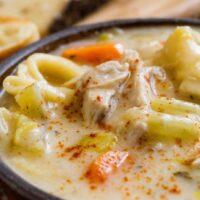 Creamy Leek And Carrot Tortellini Soup Recipe