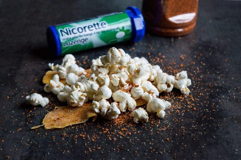 How To Quit Smoking With Nicorette| Spicy Tajin Popcorn Recipe