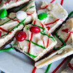 White Chocolate M&M Bark Christmas Recipe