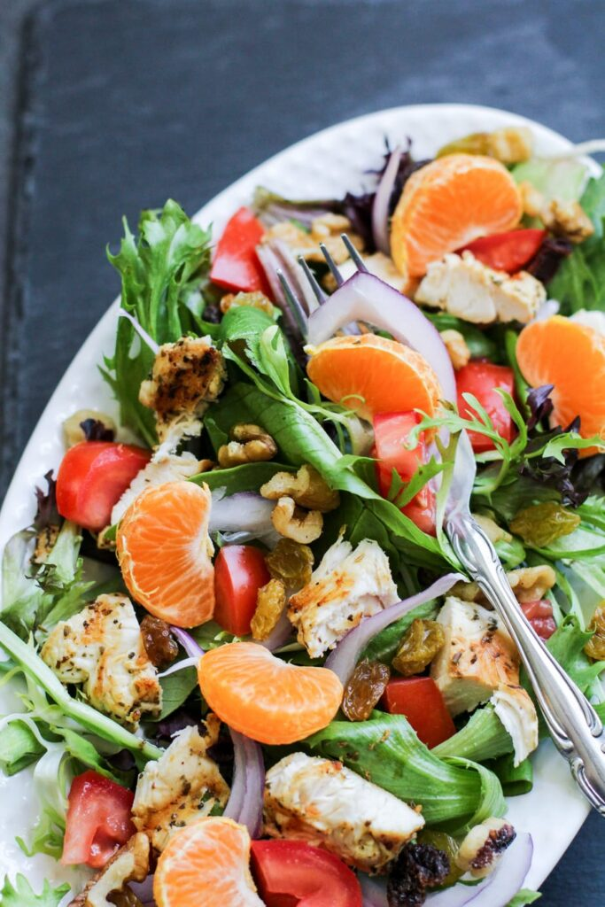 Grilled Chicken Tangerine Salad