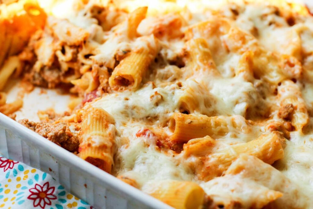 large family Puerto Rican baked pasta recipe
