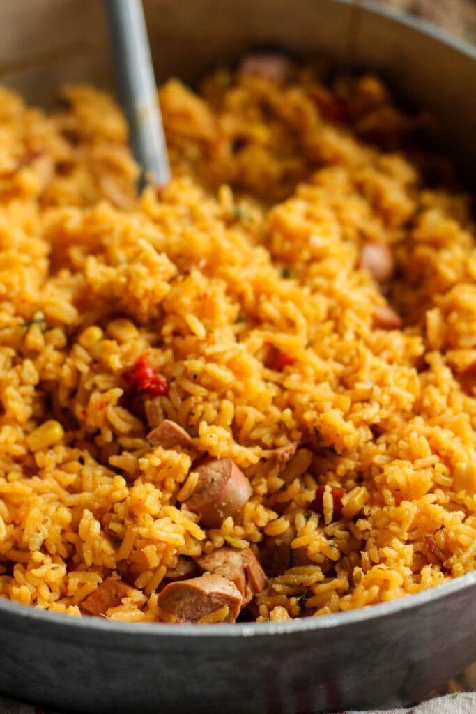 Bacon Vienna Spanish Rice