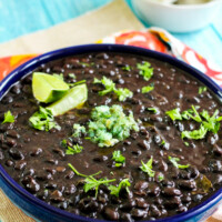 Black beans in a bowl