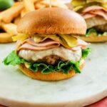 Cuban hamburger on a marble slate