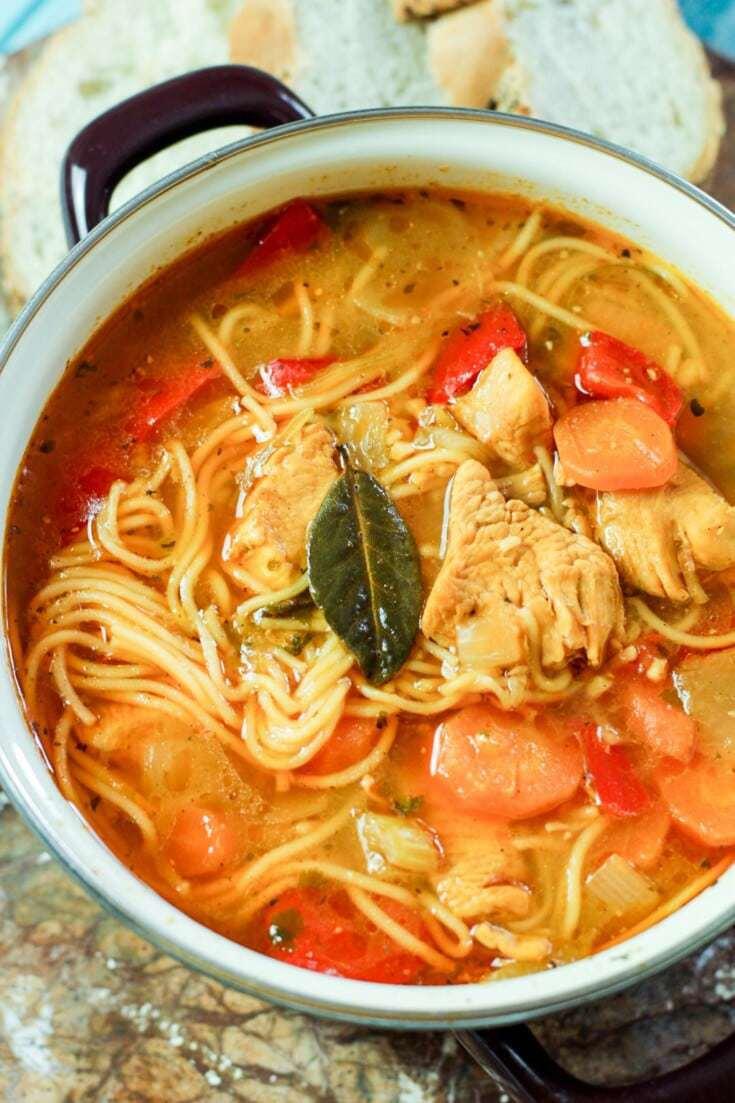 Sopa de Fideo (Puerto Rican Soup)