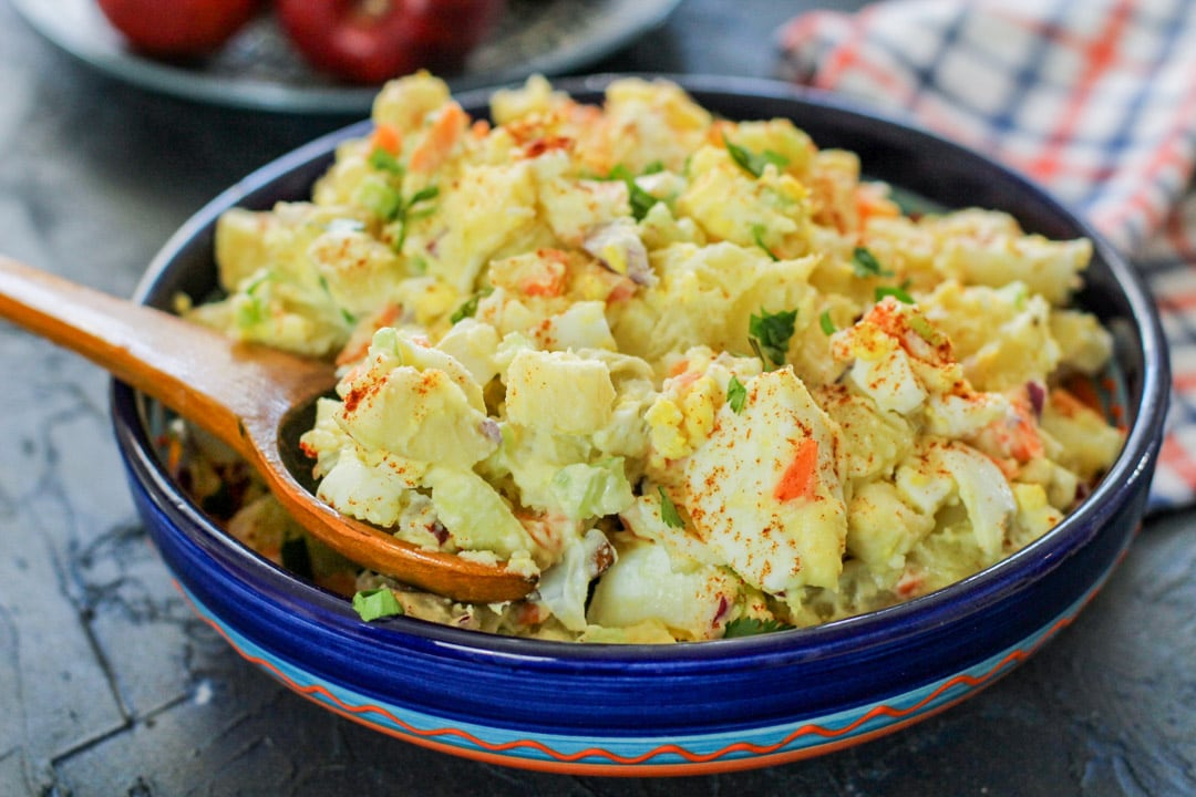 Puerto Rican Potato Salad With Apples Ensalada De Papa