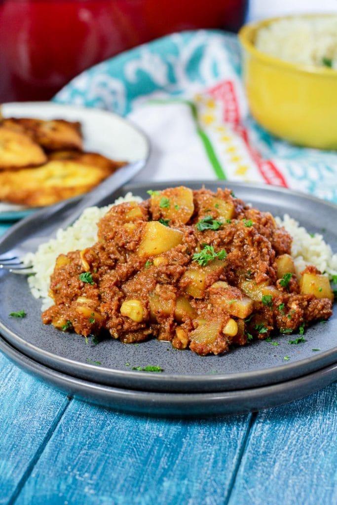 Puerto Rican corned beef hash