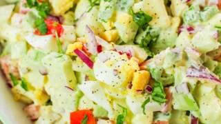 Chayote Egg Salad