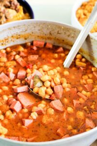 garbanzos in a pot