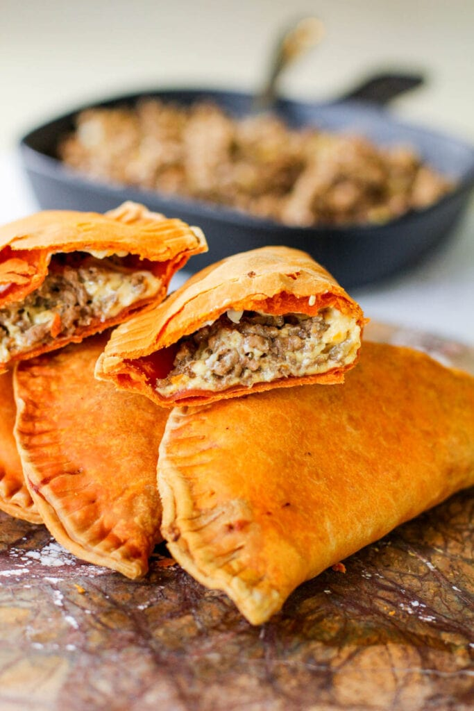 beef and cheese pastelillo