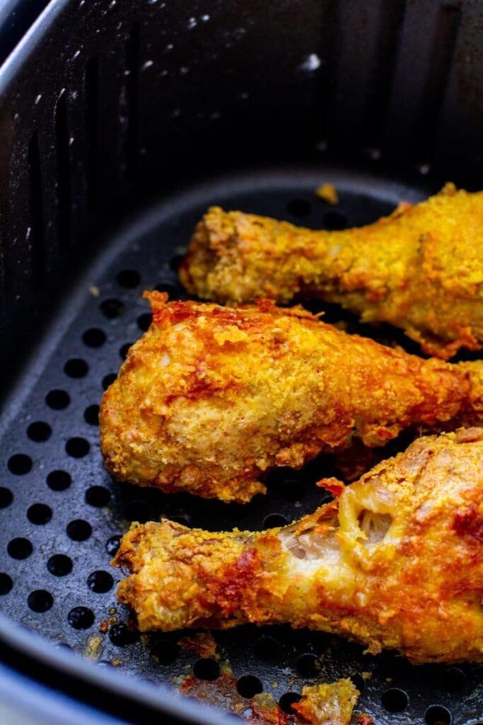 crispy chicken in air fryer basket