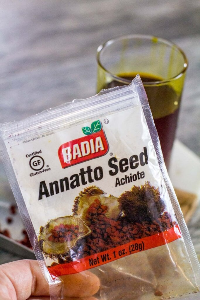 annato seed in packaging