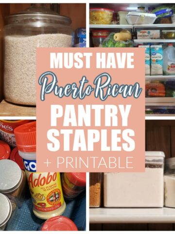 pantry staples such as rice, flour, and seasonings