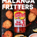 malanga fritters Pinterest image
